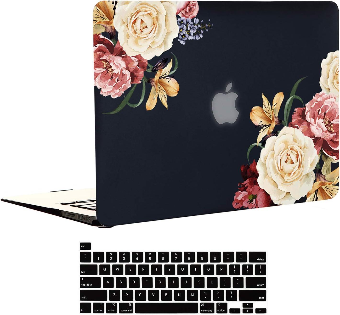 EkuaBot Black Peony MacBook Pro Transparent inch 13 Case SALENEW Very popular very popular Keybo