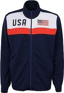 OuterStuff International Soccer Mens Boys Track Jacket