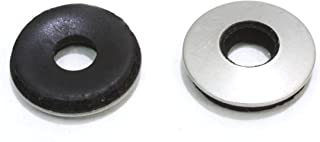 """1/4"""" x 5/8"""" OD Stainless EPDM Washers, (100 pc) Neoprene Backed, Choose Size & Qty, by Bolt Dropper."""