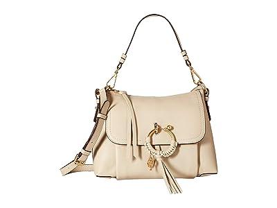See by Chloe Joan Suede Leather Small Shoulder Bag (Cement Beige) Shoulder Handbags