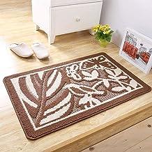 ESUPPORT Outdoor Indoor Doormat Finest Brown Entrance Floor Mat Bathroom Kitchen Blending Rug, 16 x 24inch