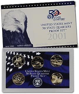 2001 S US Mint Quarters Proof Set OGP