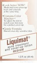 Summers Liquimat Acne Fighting Makeup Lotion, Medium, 1.5 Ounce