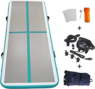 EZ GLAM 10ft/13ft/16ft/20ft Air Track Inflatable Gymnastics Tumbling Air Track Mat with Electric Air Pump for Cheerleading/Practice Gymnastics/Beach/Park/Home use