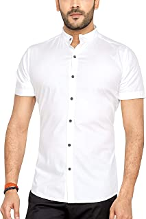 Go Stylish Half Sleeve Shirt for Men (GS-8028-White-Solid)