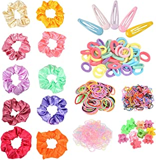YOTINO Hair Accessories for Girl Woman 575 Pcs Multicolour Bubble Hair Ties Ropes Set