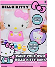 Hello Kitty Paint Your Own Piggy Bank, DIY Coin Bank for Kids by Horizon Group USA