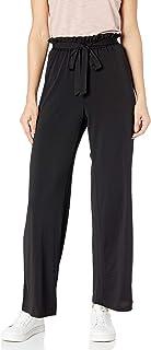 A. Byer Women's Junior's Wide Leg Elastic Waist Comfortable Pants