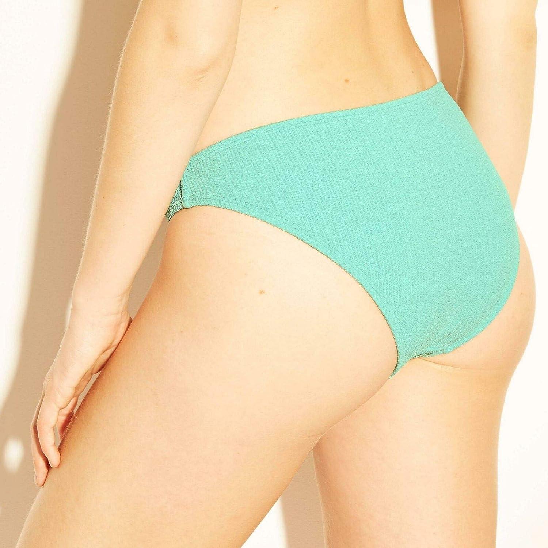 NWT Xhilaration Women/'s Textured Cheeky Swim Bikini Bottom