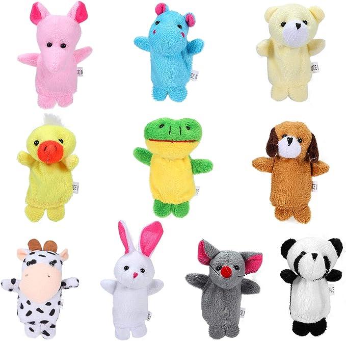 167 opinioni per Siumir Animal Burattini a Dito Giocattoli Educativi Marionette da Mano 10 PCS