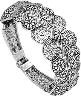 Preyans from Jaipur Mart Oxidised Kadaa for Women (Silver)(GSB44SLV)