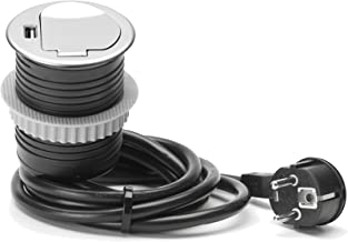 Unitec 264002empotrable Mesa Enchufe Schuko + USB
