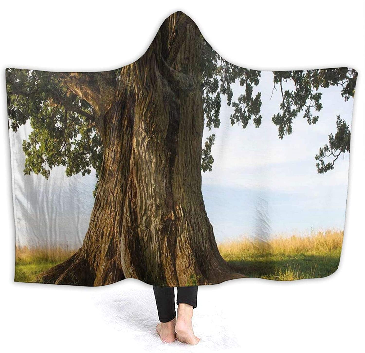 Hooded Blanket Anti-Pilling Flannel Max 54% OFF Max 41% OFF Majestic E Tree On Oak Grass