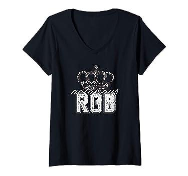Womens Notorious RBG Funny Ruth Bader Ginsberg gift idea V-Neck T-Shirt