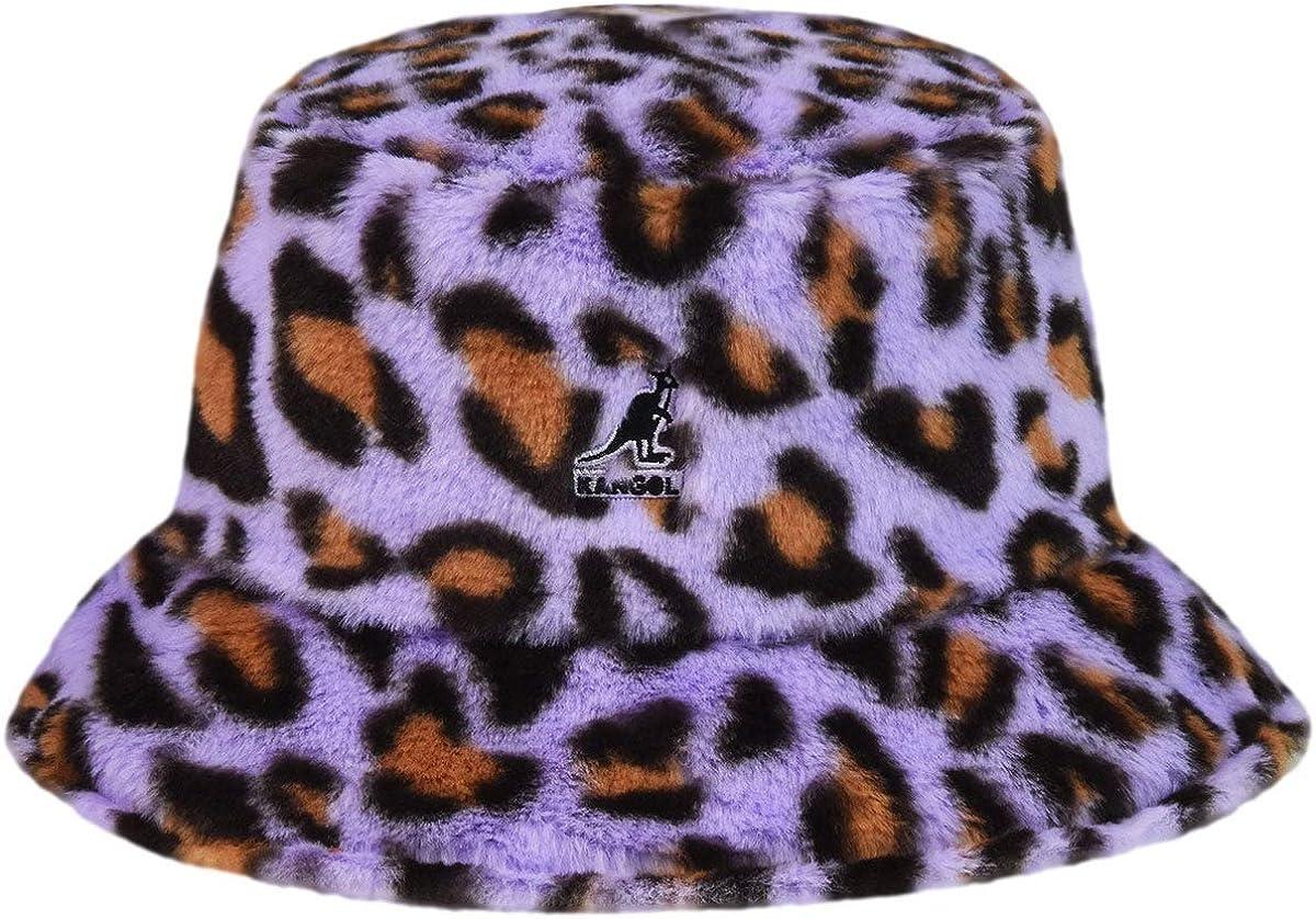 Kangol Faux shopping Fur Bargain sale Bucket - Leopard XL X Lavender
