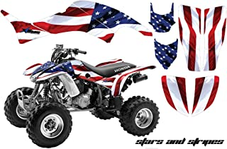 AMR Racing ATV Graphic Kit Sticker Decals Compatible with Honda 400 TRX/EX 1999-2007 - Stars and Stripes