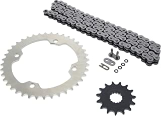 Black O-Ring Drive Chain /& Sprockets Kit Fits YAMAHA XJ550 XJ550R 1981 1982 1983