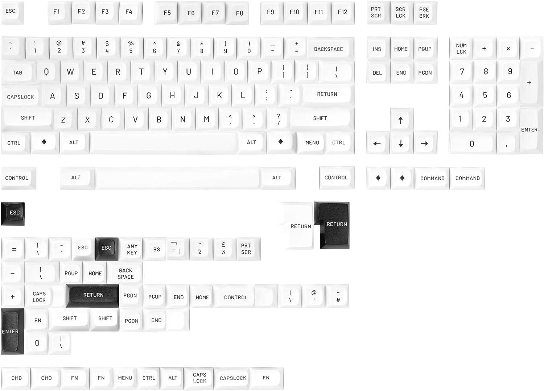 Drop MT3 Black-on-White Hi-Profile Doubleshot ABS Keycap Set - Base Kit