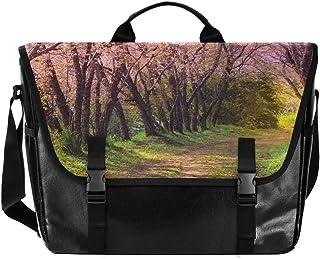 Bolso de lona con diseño de flores rosas para hombre y mujer, estilo retro, ideal para iPad, Kindle, Samsung