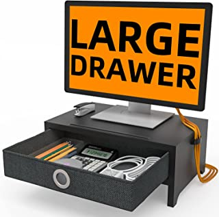 Monitor Stand with Drawer Desk Organizer with Storage Drawer Adjustable Screen Stand for Laptop Computer/TV/PC