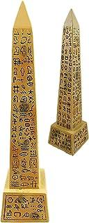 Ebros Egyptian Temple of Ra Desert Obelisk with Hieroglyphs Statue 8