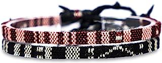 Made by Nami Boho Surfer-Armband 2-er Set Damen & Herren - Handmade Strand Festival Accessoires - Ethno Hippie Style - Was...