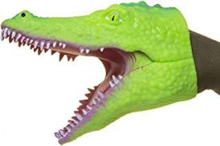 """Universal Specialties Alligator Hand Puppet Light Green Stretchy Rubber 6"""" Inch"""