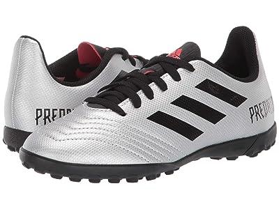 adidas Kids Predator 19.4 TF Soccer (Little Kid/Big Kid) (Silver/Black/Hi-Red Red) Kids Shoes