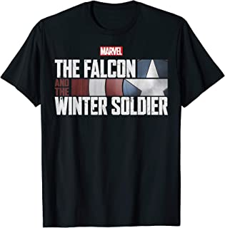 Marvel The Falcon And The Winter Soldier Shield Logo T-Shirt