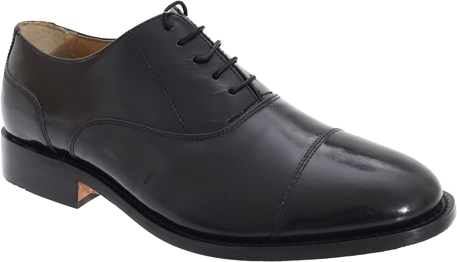 Kensington Classics Mens Premium silverinian All Leather Capped Oxford shoes