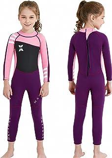 MWTA Wetsuit for Kids Boys Girls 2.5mm Neoprene Thermal Swimsuit Fullsuit Wet Suits Long Sleeve for Toddler Child Swimmin...