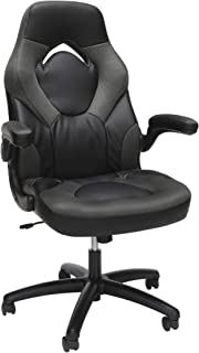 OFM Essentials Collection Racing Style Bonded Leather Gaming Chair, in Gray