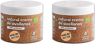 Purée de Noisettes BIO Natural Athlete, 100% Noisettes, Biologique, Sans Sucres Ajoutés, Sans Gluten, Pack 2x300 g