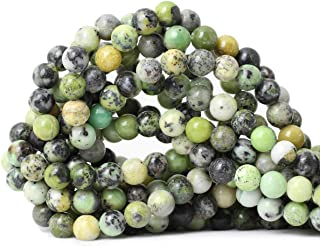CHEAVIAN 45PCS 8mm Natural Australian Jade Stone Beads Round Loose Beads for Jewelry Making DIY Handmade Materials 1 Strand 15