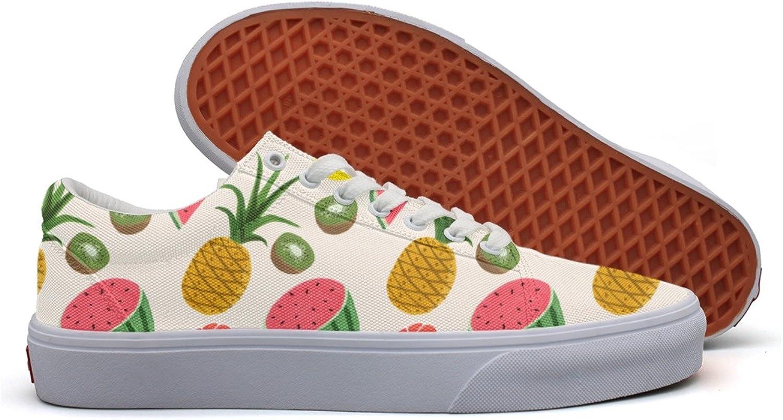 Pineapple Watermelon Some Kiwi Fruit Women's Casual Sneakers Footwear Sports Cute Comfortable