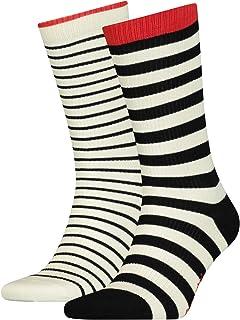Levi's Breton Stripe Regular Cut Socks (2 Pack) Calzini Unisex-Adulto