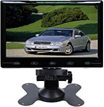 SallyBest 9'' Ultra Thin HD 800480 TFT Color LCD Screen 2 Video Input Car Rear View Headrest Monitor DVD VCR Monitor with Remote Control and Touch Button