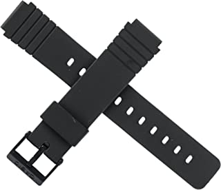 Casio 10224223 Black Rubber Watch Band 16mm (20mm)