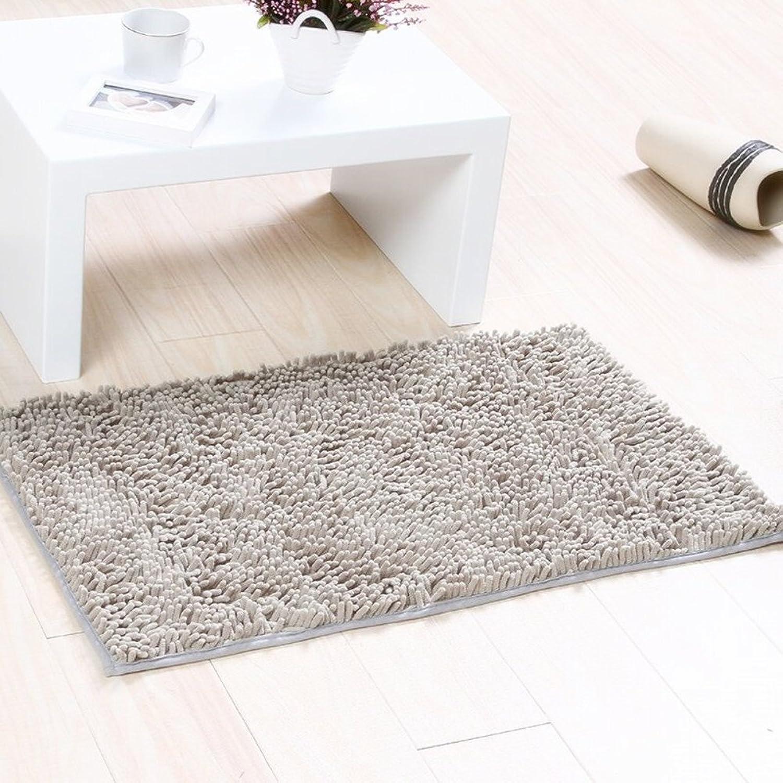 Solid-colord cotton door mat Doormat Door carpet foot mat Household use [bathroom] Bathroom The door Bedroom Living room Toilet water-absorbing anti-slip mat-E 100x150cm(39x59inch)