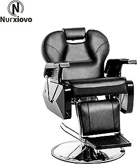 NURXIOVO All Purpose Hydraulic Barber Chair Reclining Spa Chair Beauty Shampoo Hair Styling Equipment Black