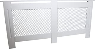 Cubierta del radiador de Madera MDF Pintado Blanco Trellised Grill Moderna calefacción Muebles hogar Estante 1720mm