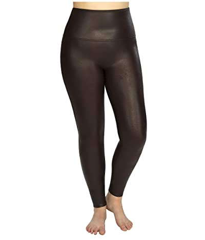 Spanx Faux Leather Leggings (Wine) Women