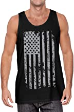 Haase Unlimited Silver American Flag - USA Patriotic Freedom Men's Tank Top