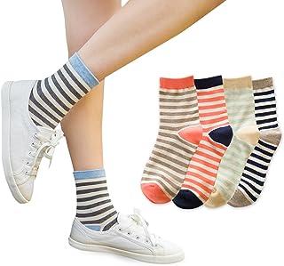 (レンサン) LianSan靴下 レディース オールシーズン 綿 おしゃれ かわいい クリスマス カラー くるぶしソックス セット