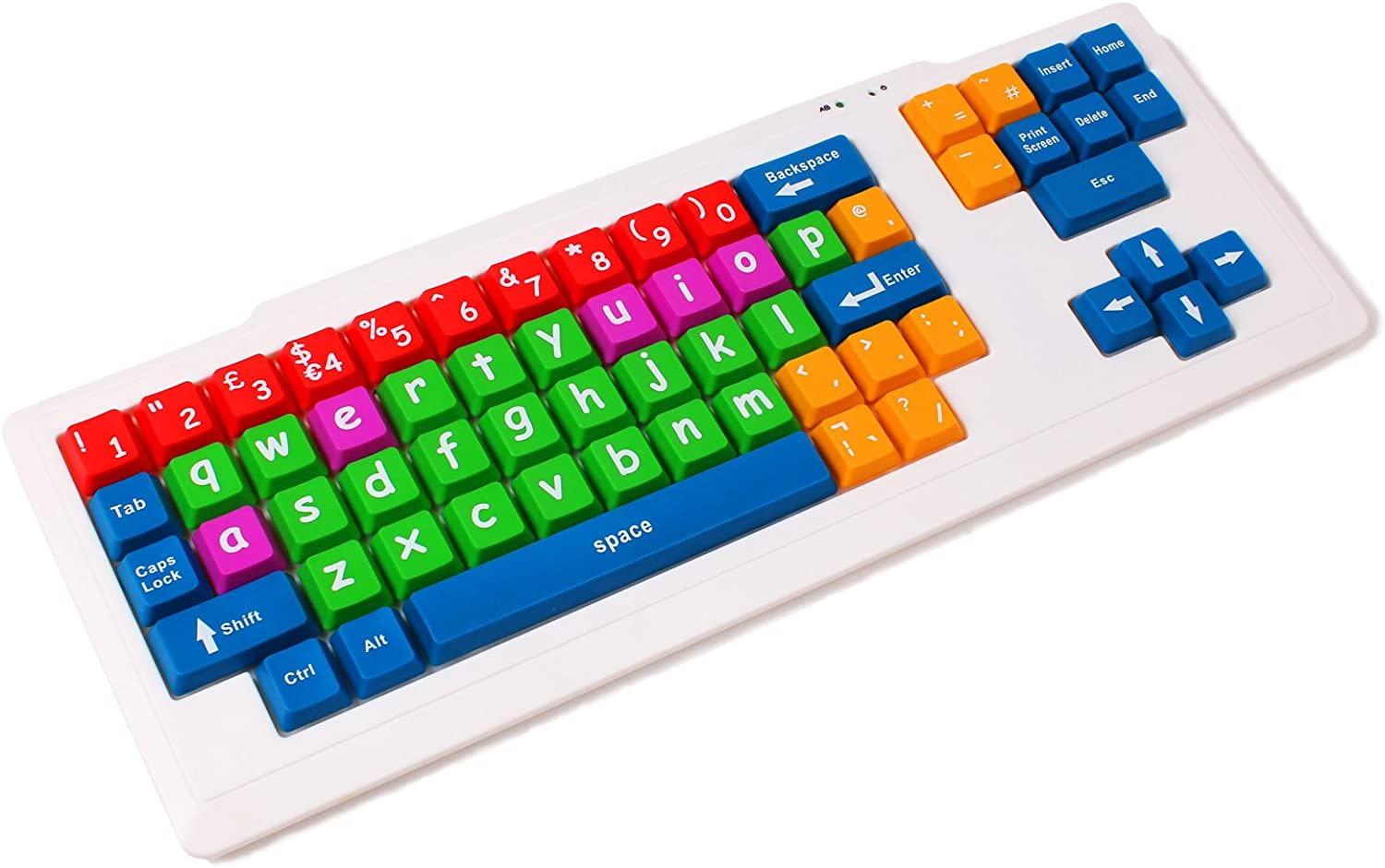 DURAGADGET Large Colourful Childrens/Special Needs/Sight impaired PC Keyboard PS2/USB - Great for Teaching/Learning at Home (Dimensions: 470 x 180 x 15mm)
