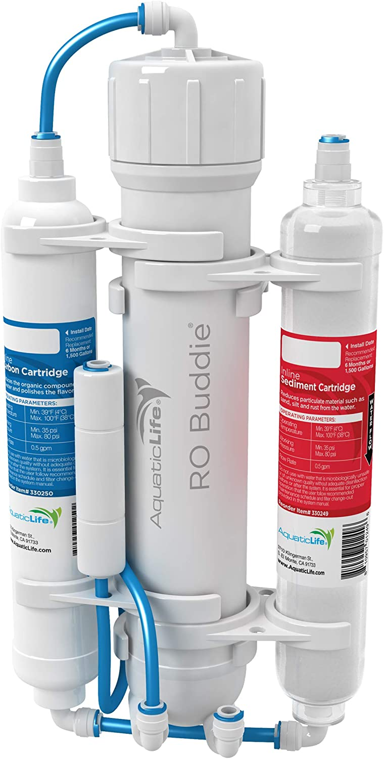 Finally resale start AQUATICLIFE RO Buddie 3-Stage Reverse Filtration Osmosis Max 74% OFF S Water