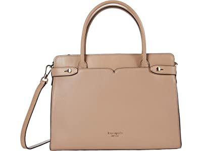 Kate Spade New York Clean Toujours Large Satchel (Raw Pecan) Handbags