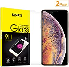 """Screen Protector for iPhone XR, [2 Pack] KHAOS Tempered Glass Screen Protectors for Apple iPhone XR 6.1"""" - 9H HD-Clear Anti-Scratch"""