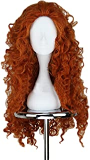 Cosplay Wigs Long Red Wavy Wig with Halloween Costumes for Women Girls Synthetic Hair Wigs