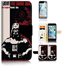 (For iPhone 8 Plus/iPhone 7 Plus) Flip Wallet Case Cover & Screen Protector Bundle! A20192 Starwars Darth Vader